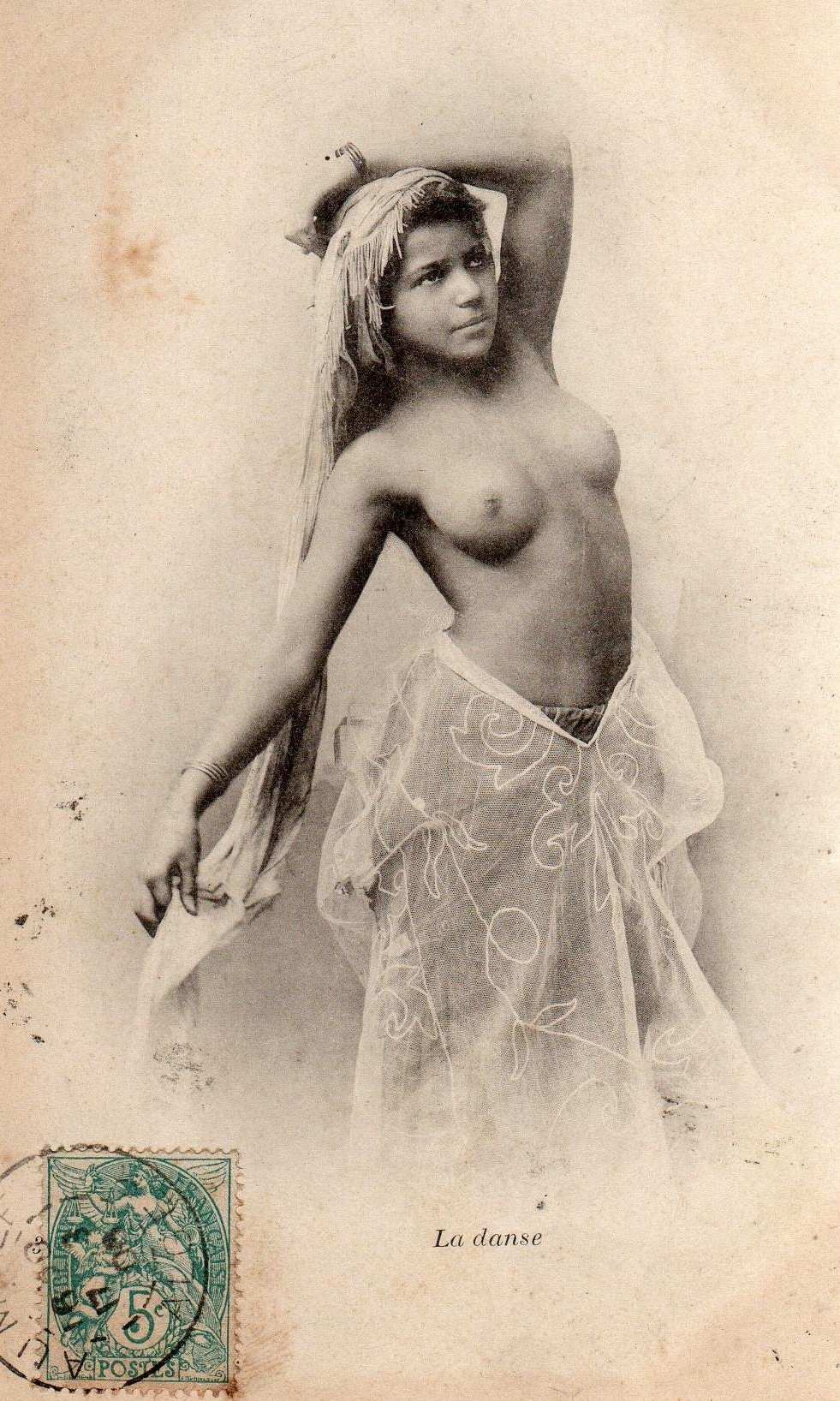 topless Algerian belly dancer