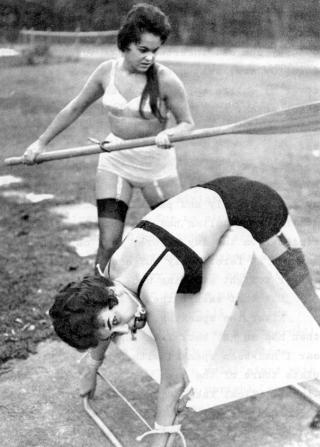 vintage bondage and an oar spanking