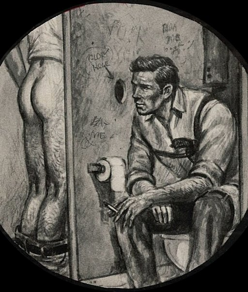 gay glory hole art