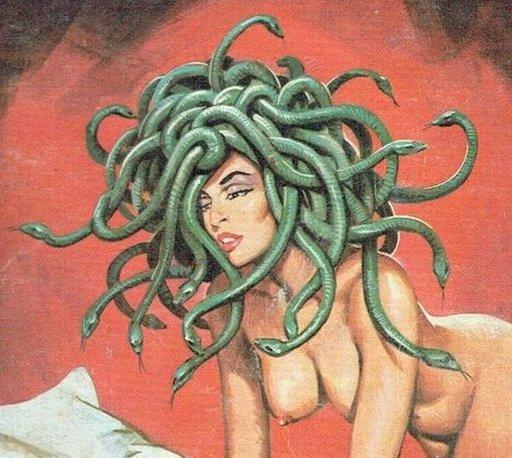 topless nude gorgon