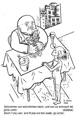 grosz fatcat cartoon