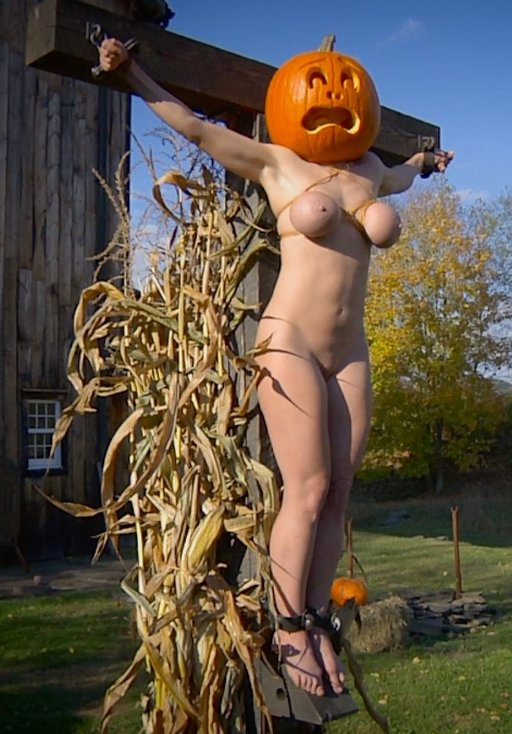 summoning the great pumpkin with a crucified bondage sacrifice