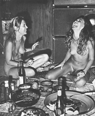 nude hippie girls partying hard
