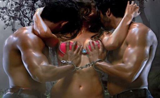 sexy femdom art from Bollywood movie trailer