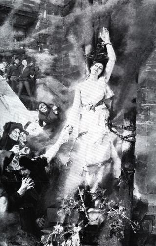 Hexenverbrennung by Albert von Keller