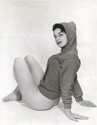 girl wearing hoody and nothing else