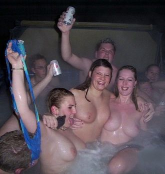 hot tub party for eight