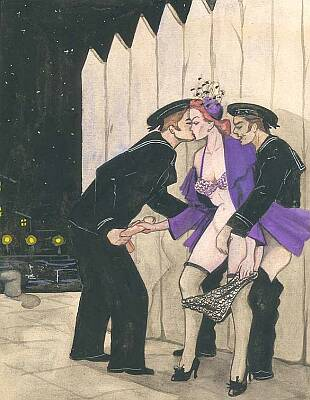 groping two sailors