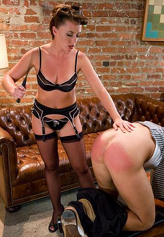 woman spanking her husband