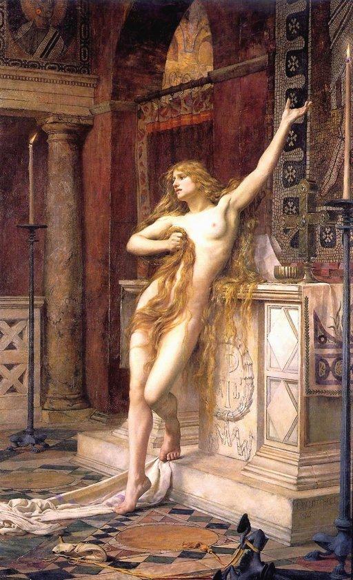 hypatia stripped in church