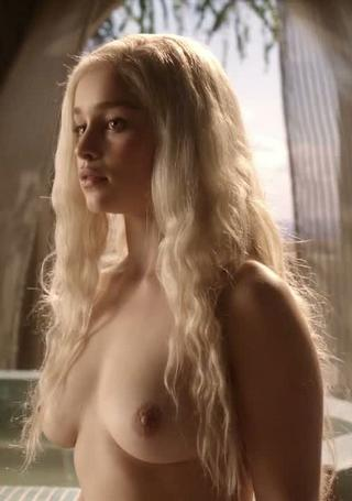topless blonde, Khaleesi of the Dolthraki