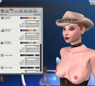 virtual makeover for a kinky cowgirl