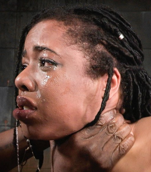 kira noir with a hand around her throat during rough sex