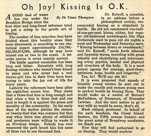 defense of kissing