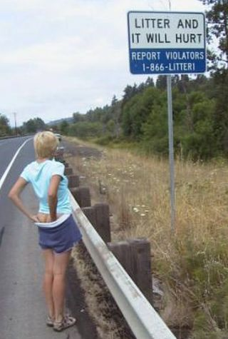 spanked for littering
