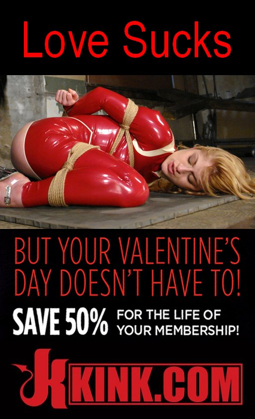 love sucks kink sale valentines day