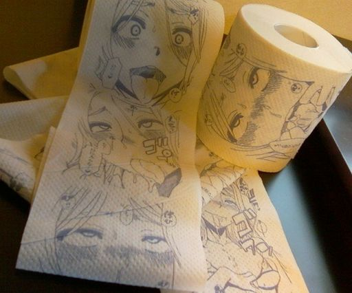manga licking toilet paper
