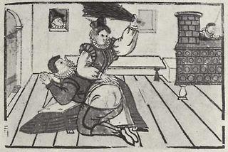 German wife beats her husband