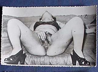 vintage female masturbation photo