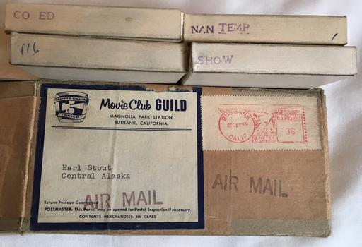 December 15 1955 order of 8mm porno films from Movie Club Guild