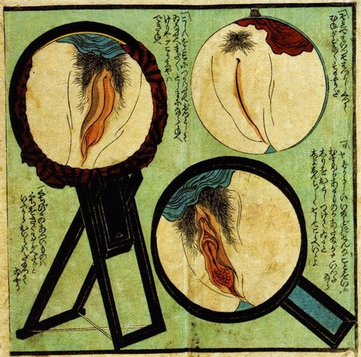 shunga art of three pussy self-inspections