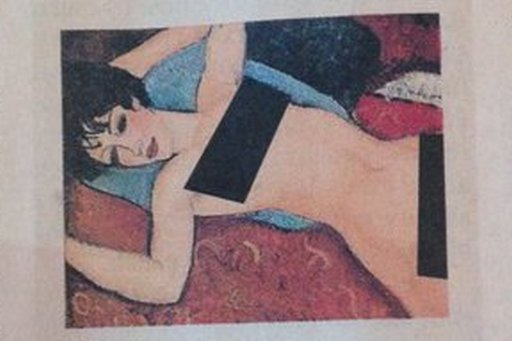 modigliani-reclining-nude with censor bars