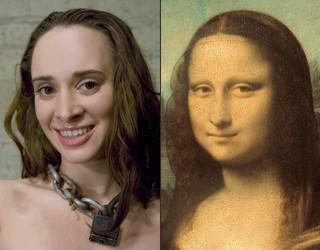 Maya Matthews as the Mona Lisa