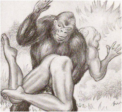 monkey spanks Tarzan