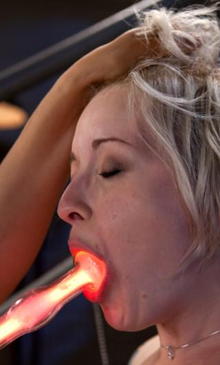 violet wand electrode in her mouth