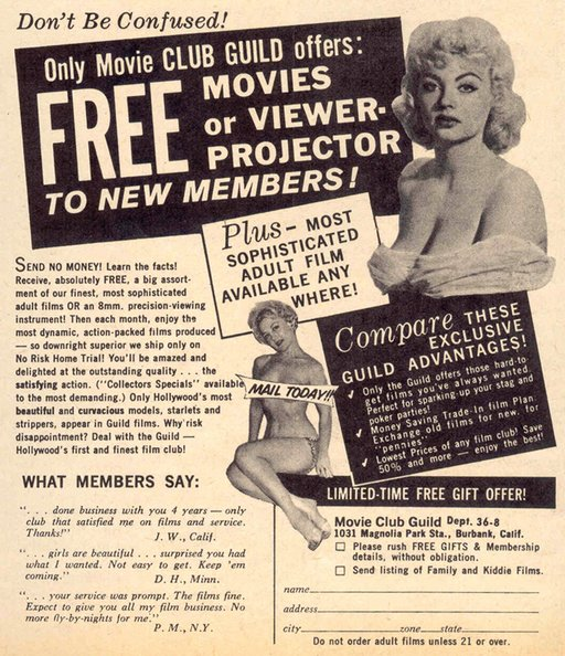 1960 movie club guild advert