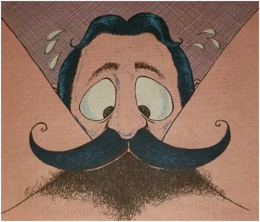 nervous mustache rider