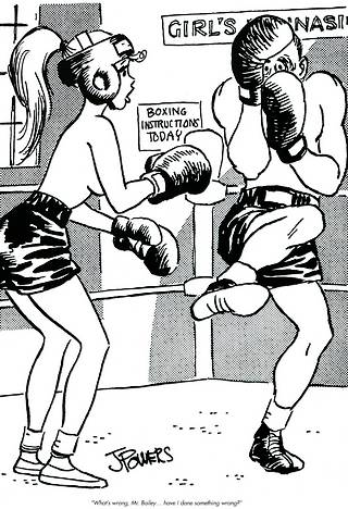 topless neophyte boxing girl
