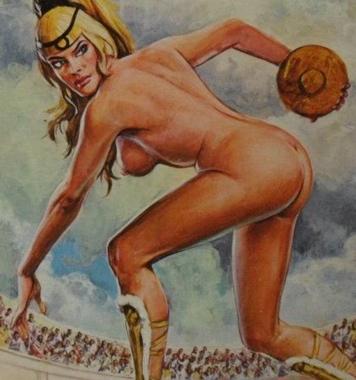 nude female discus thrower