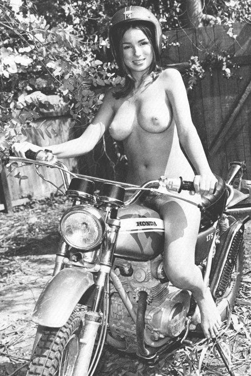 nude rides honda motorcycle