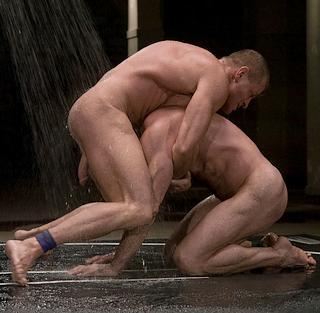 naked men in naked combat