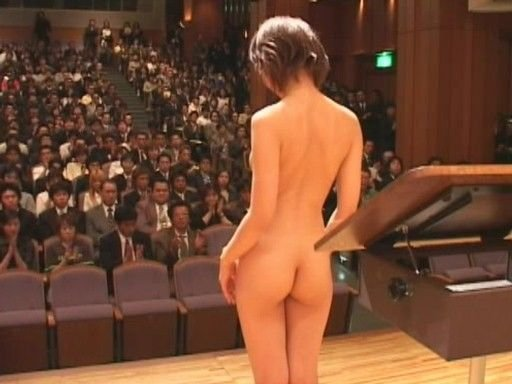naked conductor of a nude orchestra takes a bow