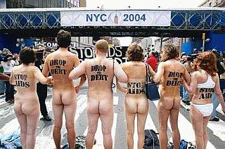 naked protesters in new york establish their very own free speech zone