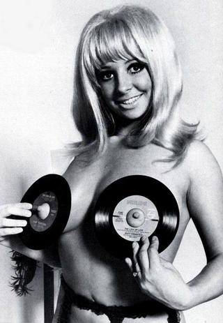 45s on her chest