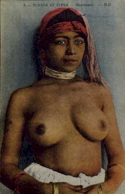 nude arab woman on a French postcard