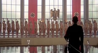 two dozen naked nazi girls saluting