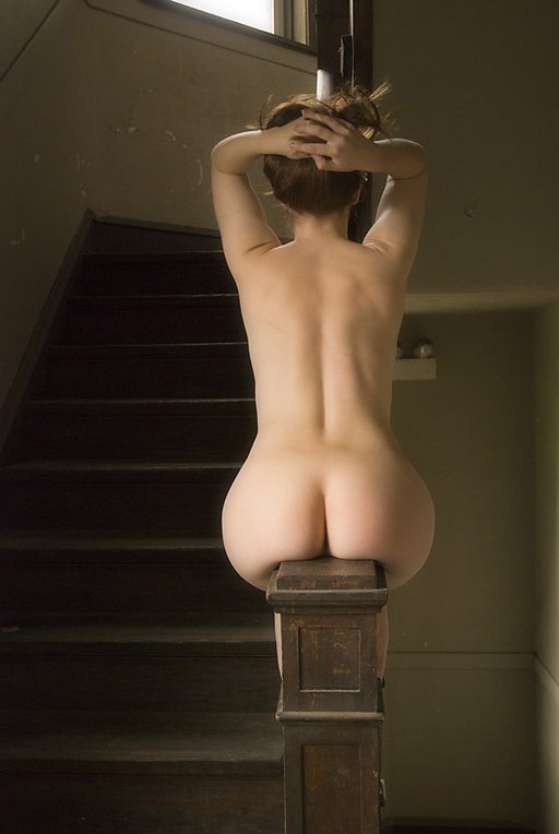 naked banister sliding