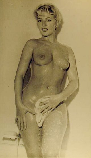 wash cloth soapy nude woman