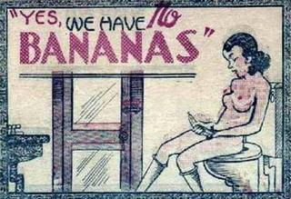 girl masturbating with a banana in a toilet 8-page-bible comic panel