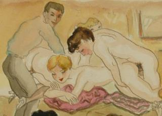 detail from a large orgy scene
