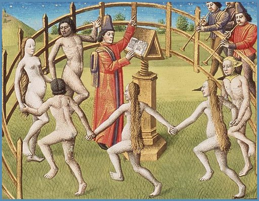 medieval manuscript naked pagan party illustrations