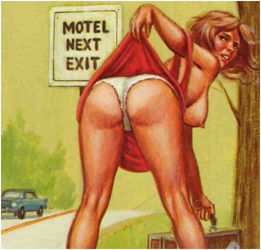 panty flashing hitchhiker waits for a ride