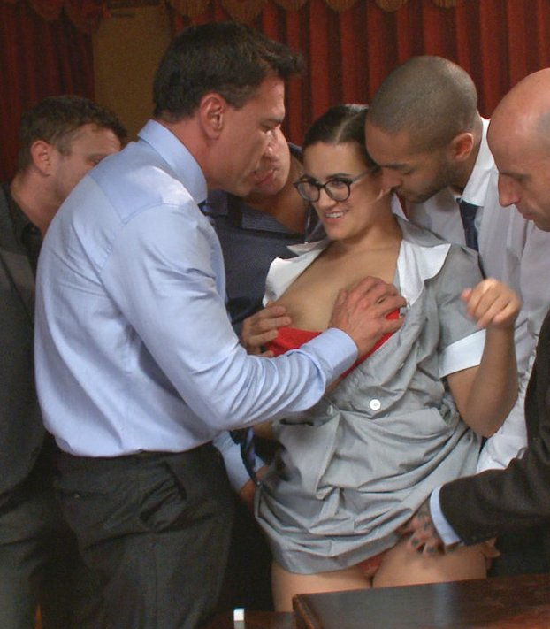 penny barber entices five horny men into banging her all at once
