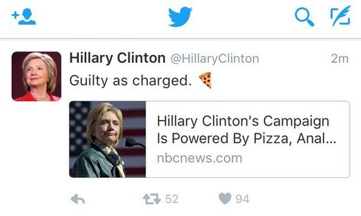pizza and anal said to fuel Hillary Clinton campaign