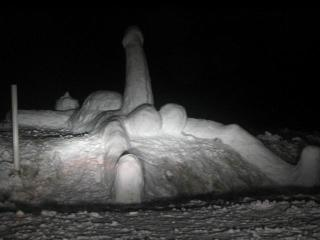 snow sculpture with big erection