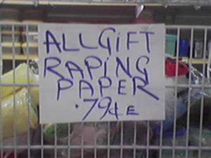 a sale raping paper
